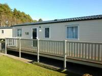 CARAVAN TO RENT@ SUNDRUM CASTLE, AYRSHIRE. PET FRIENDLY, LINEN INCLUDED.