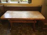 QUICK SALE!!! Solid Pine Wood Kitchen Table with 4 chairs