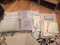Myleene Klass Baby K Cotbed/Bedding bundle + Extras