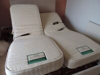 """4ft 6"""" Willowbrook electrically double bed with massage each mattress 195cm x 68cm"""