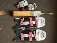 Cricket Bat, Pad, Batting Gloves and New ball ! Youth