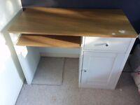 White and Oak Desk