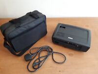 Projector, DELL 1410X, with cable and carry bag. Unused.