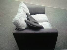 2 seater black and grey sofa