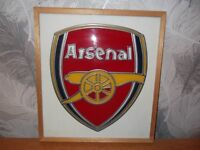 Arsenal Badge in Glass and Lead Framed