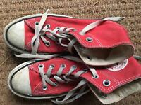 6 Pairs Of Girls Shoes Free + red converse high tops size 3
