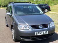 7 Seater Volkswagen Touran 1.9 TDI SE MPV 5dr Diesel Manual,F S History, Long MOT
