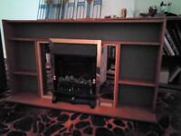 Fire surround with shelves