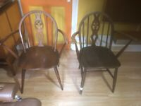 Ercol Midcentury dinning chairs