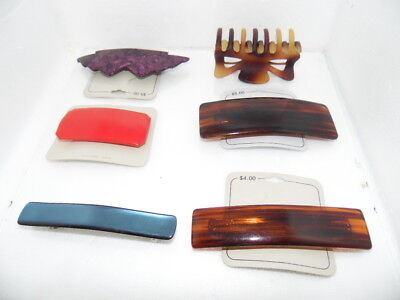 Vintage Accessories Hair Jewelry Barrettes Clips LOT OF 6 Retro 70s 80s - 80s Hair Accessories