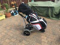 Powakaddy with golf bag