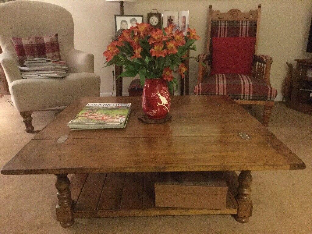 Oak Coffee Table Folding Leaves 36 X 18