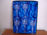 Bohemia Crystal Wine Goblets. by Henry Marchant