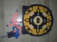 Nerf and dartboard