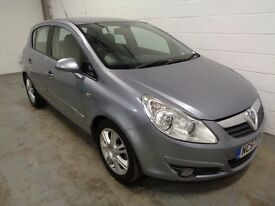VAUXHALL CORSA DESIGN , 2007/57 REG , LOW MILES + HISTORY , YEARS MOT , FINANCE AVAILABLE , WARRANTY