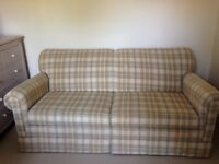 Lovely check sofa bed