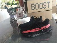 Adidas Yeezy 350 Boost V2 Black Red New with Box Balenciaga Nike Air Force