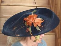 BESPOKE HAT BY RACHEL WYKES, WEDDING / RACES, COST £400 WHEN NEW
