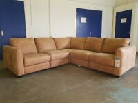 BRAND NEW STILL WITH TAGS FABB SOFAS JASPER 5 SEATER LEATHER CORNER SOFA DELIVERY AVAILABLE