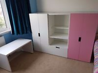 Kids wardrobe desk storage Ikea Stuva