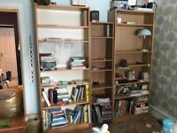 2 x IKEA Billy Bookcases in Oak