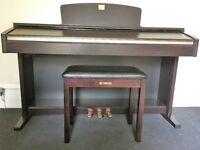 Yamaha Clavinova CLP-120 Digital Piano and stool