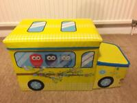 Yellow color foldable Car Storage Box for kids