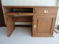 PINE OFFICE STUDY COMPUTER DESK SIDEBOARD CUPBOARD DRESSING WTITING TABLE