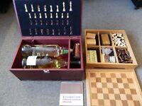 Games compendiums, Chess set wine bottle holder...