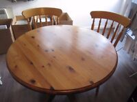 Wood Table + 4 Chairs - £80!