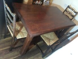 Dining table -Real wood farm house style + Can deliver