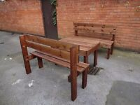Large Garden Set. 2 Benches + table. BRAND NEW.