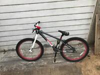 "X-Rated Mesh Dirt Jump Bike Bicycle 26"" Inch Wheels Steel Frame in Silver"