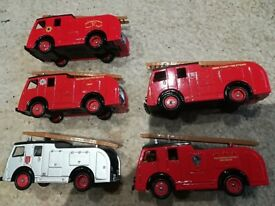Collection Of 5 Dennis 1955 F8 Fire Engine Models
