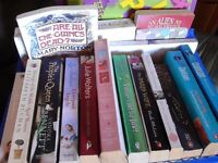 Crates of used books ideal for book stall or car boot