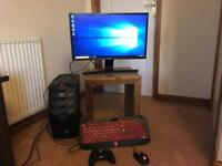 Acer predator G3-710 gaming set up with Samsung curved monitor