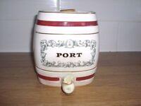 "1950's Wade Royal Victoria Pottery Spirit Barrel - Port - vgc - 5 1/2"" h x 5"" w - W&A Gilbey"