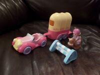 Happyland Horse box and car