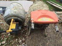 2 Belle Cement Mixers for repair or spares. Minimix 150 and Mastermix MC130