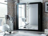🎊🎁🎉100% Quality 🎊🎁🎉BERLIN 2&3 SLIDING DOORS WARDROBE IN 5 SIZES & IN MULTI COLORS