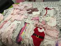Big selection of baby girl clothes plus more