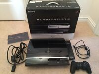 SONY PLAYSTATION 3 60GB BOXED c/w 1x CONTROLLER, BLU-RAY REMOTE, VARIOUS GAMES & SINGSTAR
