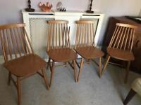 4 dining chairs wooden
