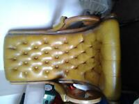 Leather 1950's rocking chair
