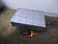 Trailer - Galvanised 4x3 trailer with top - Fishing camping trailer *new lock - bargain cheap
