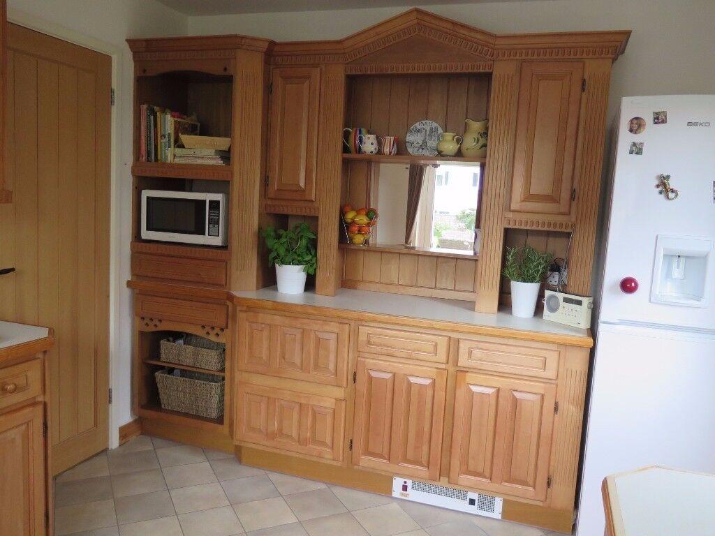 Winchmore Beech kitchen units (inc. sink, fan & heater) For Sale £300
