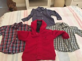 Boys 3 years shirts and cardigan