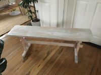 Vintage wooden bench Upcycled! FREE