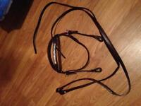 Double T western show bridle and breast plate