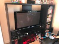 Black IKEA media unit